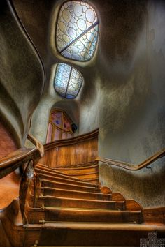 decadence, coffeenuts:Antoni Gaudi staircase-Barcelona,...