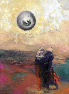 Odilon Redon「The Black Sun」(1900)