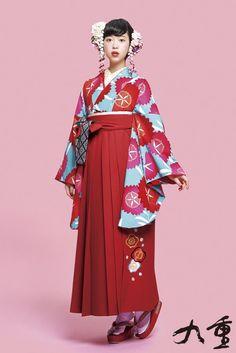 #袴 kimono hakamaレトロ柄