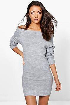 Compra Vestido informal de mujer color gris de Boohoo al mejor precio.  Compara precios de vestidos de tiendas online como Boohoo - Wossel España c4423fb70364