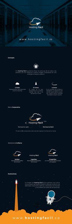 www.hostingfacil.co New Brand Design #Branding #Logo #Rocket #Hosting #Servers #VPS