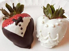 Tuxedo strawberries / Fresas en Smoking