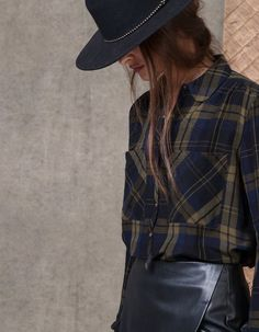At Stradivarius you'll find 1 Crepe check print shirt for woman for just 2790 RSD . Visit now to discover this and more SHIRTS.