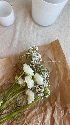 Fresh Flowers, Beautiful Flowers, New Energy, Flower Aesthetic, My Flower, Planting Flowers, Floral Arrangements, Greenery, White Cottage