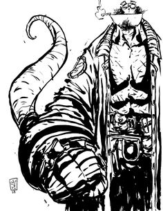 Image of Hellboy Daily Sketch - Skottie Young Skottie Young, Pen Illustration, Illustrations, Comic Book Artists, Comic Artist, Young Art, To Infinity And Beyond, Cool Art, Character Design