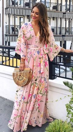 beautiful+printed+maxi+dress Boubou, Maxi Floral, Tenues Chic, Tenues 0a68a0556a63