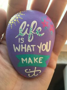 Quote painted rock