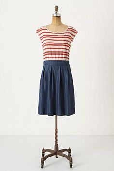 striped t-shirt and a denim skirt, I think I could make my own version of this!