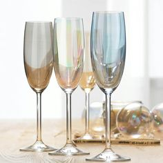Cheer Champagne Flute Set of 4 Assorted