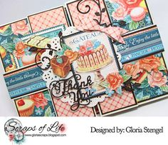 Cheery Lynn Designs Blog: Double Shutter-fold Card with guest Gloria Stengel...