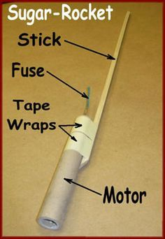 Sugar rocket with stick and fuse attached Science Projects, Science Experiments, Projects For Kids, Stem Projects, Science Activities, Build A Rocket, Diy Rocket, Survival Tips, Survival Skills