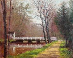 Griggstown Spring - Landscape Paintings by Joe Kazimierczyk