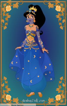 Jasmine for Aladdin all dressed up. Game: [link] (c) Azaleasdolls Arabian Nights Disney Princesses And Princes, Disney Princess Drawings, Disney Princess Art, Disney Princess Pictures, Disney Princess Dresses, Disney Fan Art, Disney Drawings, Disney Princess Jasmine, Disney Princess Fashion