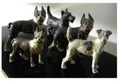 Cast Iron dogs from the Geoffrey Beene estate sale