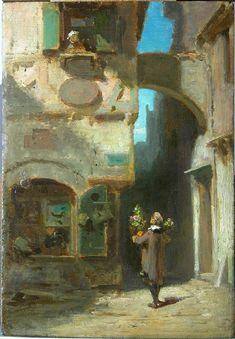 """Carl Spitzweg - """"Der Rosenkavalier"""" - Ratinger RestauratorenRatinger…"""