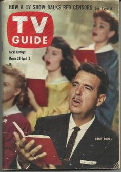 1959 Vintage TV Guide Tennessee Ernie Ford
