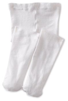 Jefferies Socks Baby Girls' Pima Tight White 6 18 Months