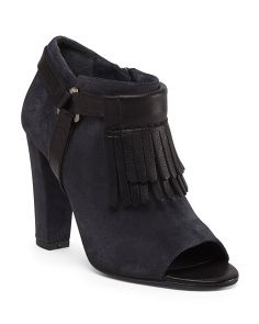 Delman: Made In Spain Suede Ankle Booties