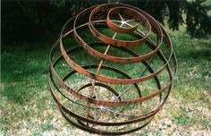 Architectural Garden Sphere Sculpture by AnemoneArts on Etsy, $119.00