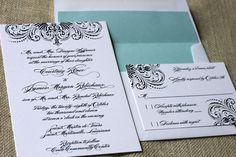 black and white invitations.