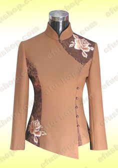 Chinese Clothes - Custom-made Cheongsam,Chinese clothes, Qipao, Chinese… Batik Fashion, Hijab Fashion, Fashion Dresses, Chinese Clothing, Chinese Dresses, Mode Batik, Sewing Clothes Women, Winter Mode, African Dress