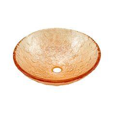 Jsg Oceana Champagne Gold Glass Vessel Round Bathroom Sink 005-003-100