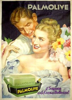 "TARGA VINTAGE ""SAPONE PALMOLIVE"" Pubblicità, Cosmetic Advertising, Poster, Plate"