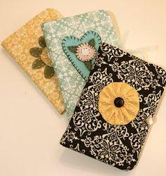 super cute DIY fabric notebook covers