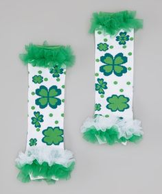 St. Patricks day leg warmers for my little irish girl