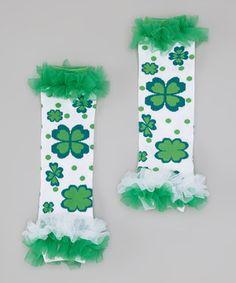 St. Patricks day leg warmers for my little irish girl
