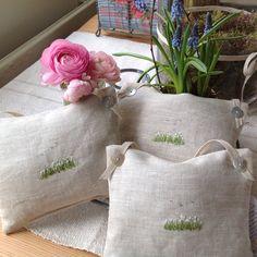 Snowdrop, lavender bags. <3. T&Linen