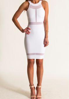 boutique flirt - Donna Mizani Halter Panel Dress White, $198.00 (http://www.boutiqueflirt.com/donna-mizani-halter-panel-dress-white/)