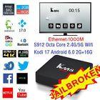 KM8 Pro 4K Smart TV Box Amlogic S912 Octa core Android 6.0 2G16G KODI 17.0 Wifi