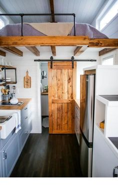 69 clever loft stair for tiny house ideas tiny house closet, tiny house stairs, Best Tiny House, Modern Tiny House, Tiny House Plans, Tiny House On Wheels, Tiny House Design, Modern Homes, Modern Loft, Modern Barn, Cottage Design