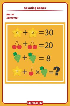 Just click on the pin and find more math printables to master equations!🥳 7th Grade Math Games, Seventh Grade Math, Algebra Worksheets, Printable Worksheets, Printables, Brain Activities, Free Activities, Counting Games, Play Game Online
