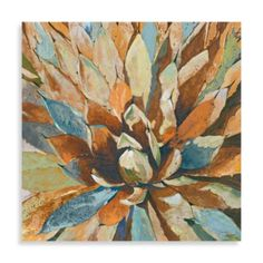 Portfolio Canvas Decor Large Printed Canvas Wall Art Painting, 35 by Agave Hues, Framed and Stretched Ready to Hang Metal Wall Art, Canvas Wall Art, Southwest Decor, Southwest Style, Flower Petals, Cactus Flower, Flower Wall, Handmade Flowers, Painting Inspiration