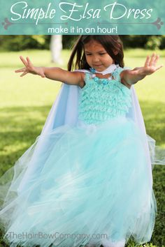 Simple Queen Elsa Dress - using a romper and homemade tutu
