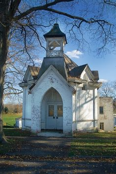 little old white church