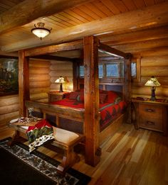19 Magical Rustic Bedroom Interior Designs That Will Relax You 19 magische rustikale Schlafzimmer-In Rustic Bedroom Furniture, Rustic Bedding, Home Decor Bedroom, Furniture Design, Cabin Furniture, Bedroom Rustic, Furniture Stores, Furniture Market, Black Furniture