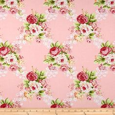Hill Farm Large Floral Pink; need this...for something; beautiful companion fabrics $9