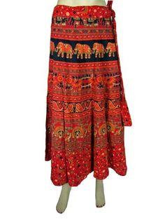 Hippie Long Wrap Skirts Chilly Red Elephant Peacock Print Cotton Wraparound Skirt for Women Mogul Interior,http://www.amazon.com/dp/B00CBA80O0/ref=cm_sw_r_pi_dp_ToXzrbA26BA54C83