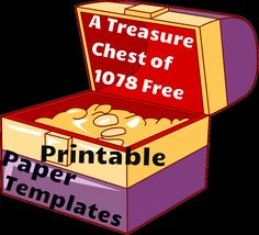 This free resource is a treasure chest of 1,078 different printable paper templates! Download them for free!