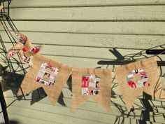 BBQ Burlap Banner W/ Fabric Letteres by ReevesCountrySewing, $12.00