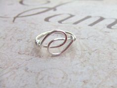 For sale on etsy. Lovely simple ring. Holding Hands Friendship Ring Wire Wrapped Ring Silver Ring Simple Ring Wire Wrap Jewelry Gifts Under 10 Thank You Gift