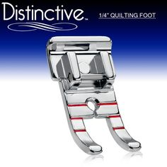 "Distinctive 1-4"" (Quarter Inch) Quilting Sewing Machine Presser Foot - Fits All Low Shank Snap-On Singer*, Brother, Babylock, Euro-Pro, Janome, Kenmore, White, Juki, New Home, Simplicity, Elna and More! Distinctive"