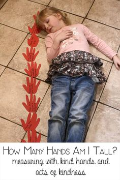 How many hands am I tall? measuring activity for preschool