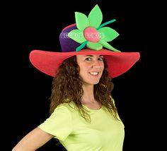 gorro gomaespuma - pamela flor Crazy Hats, Kids Hats, Spring Time, Knit Crochet, Pamela, The Originals, Sewing, Knitting, Color