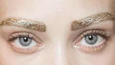 gold, eyes, glitter and eyebrows kép