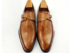 #bespoke #custom #handmade #monkstrap #shoe #tan #patina
