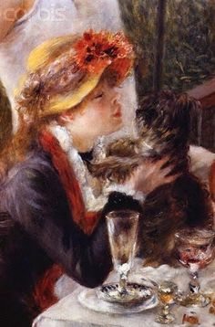 ♔ Detail from the Luncheon of the Boating Party ~ Pierre-Auguste Renoir
